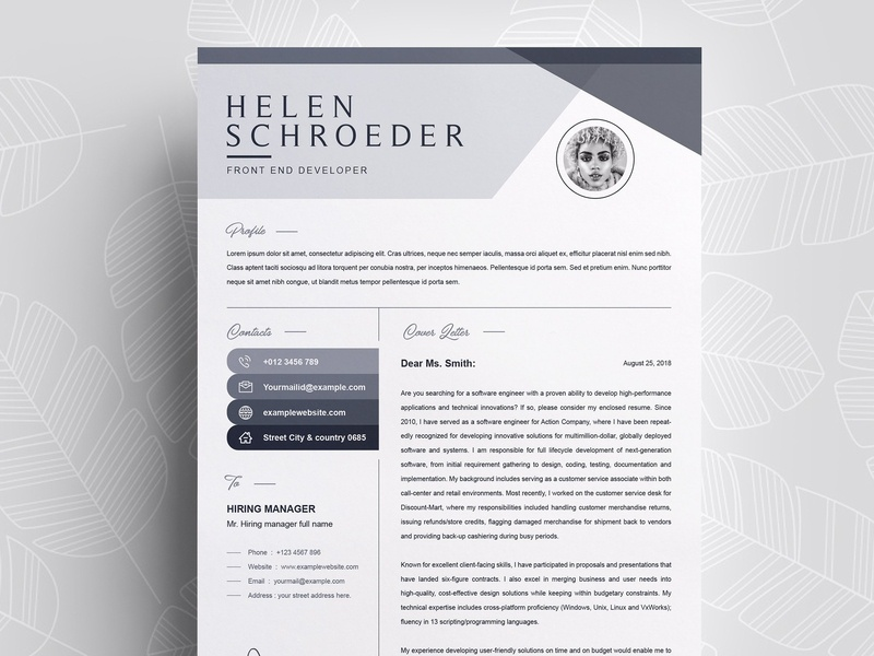 Resume Template Professional Cv By Resume Templates On Dribbble