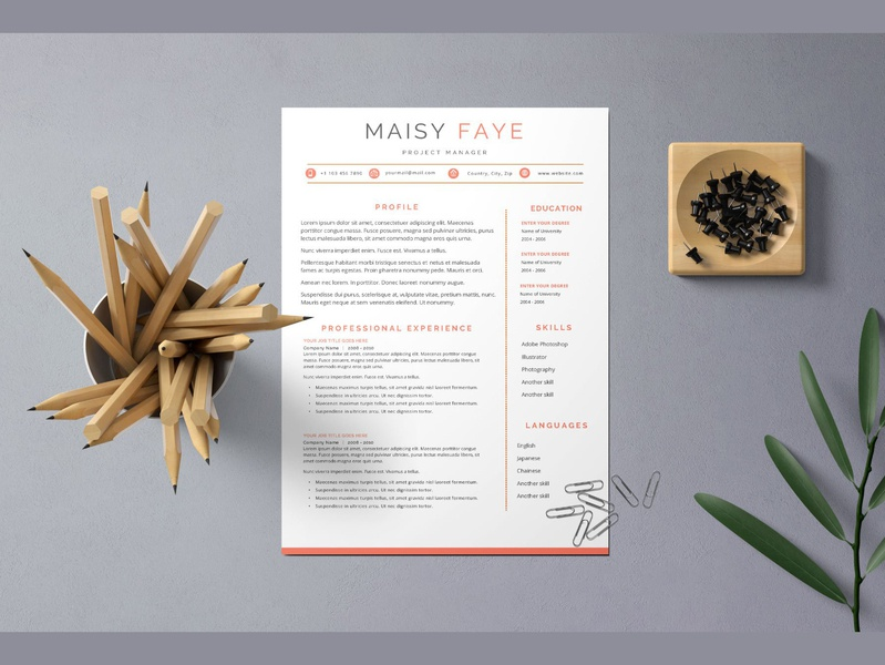 Clean & Simple Resume Cv Templates resume template cv cv template resume resume templates modern resume modern creative resume professional curriculum vitae clean resume template minimal resume professional resume minimal modern cv word template cover letter cv resume