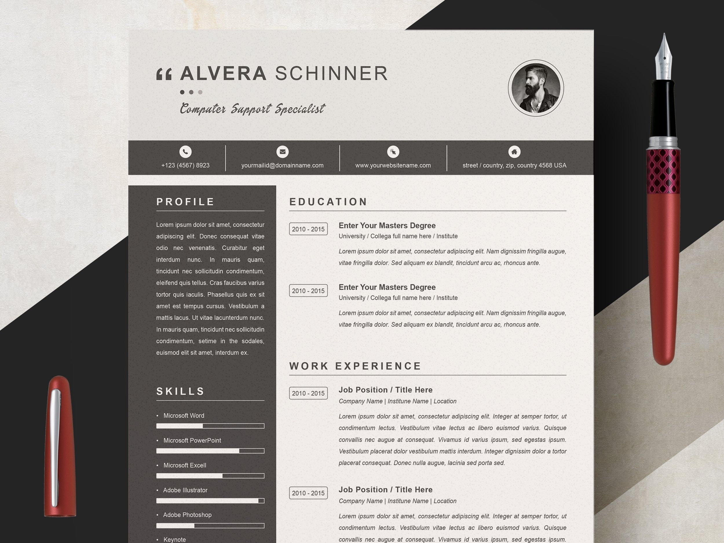 Dribbble 01 Clean Professional Creative And Modern Resume