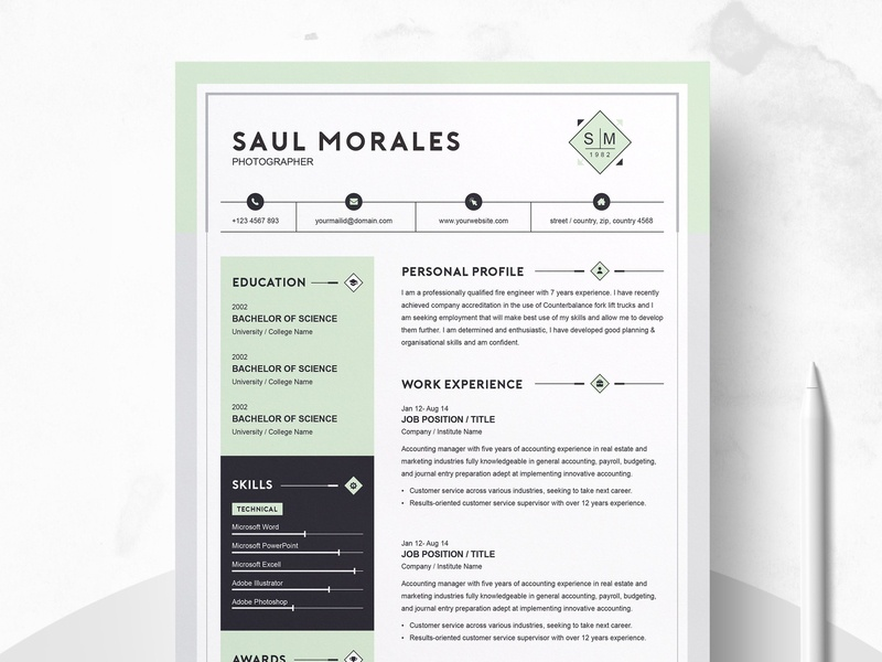 Resume Template 3 Page | CV Template by Resume Templates on Dribbble