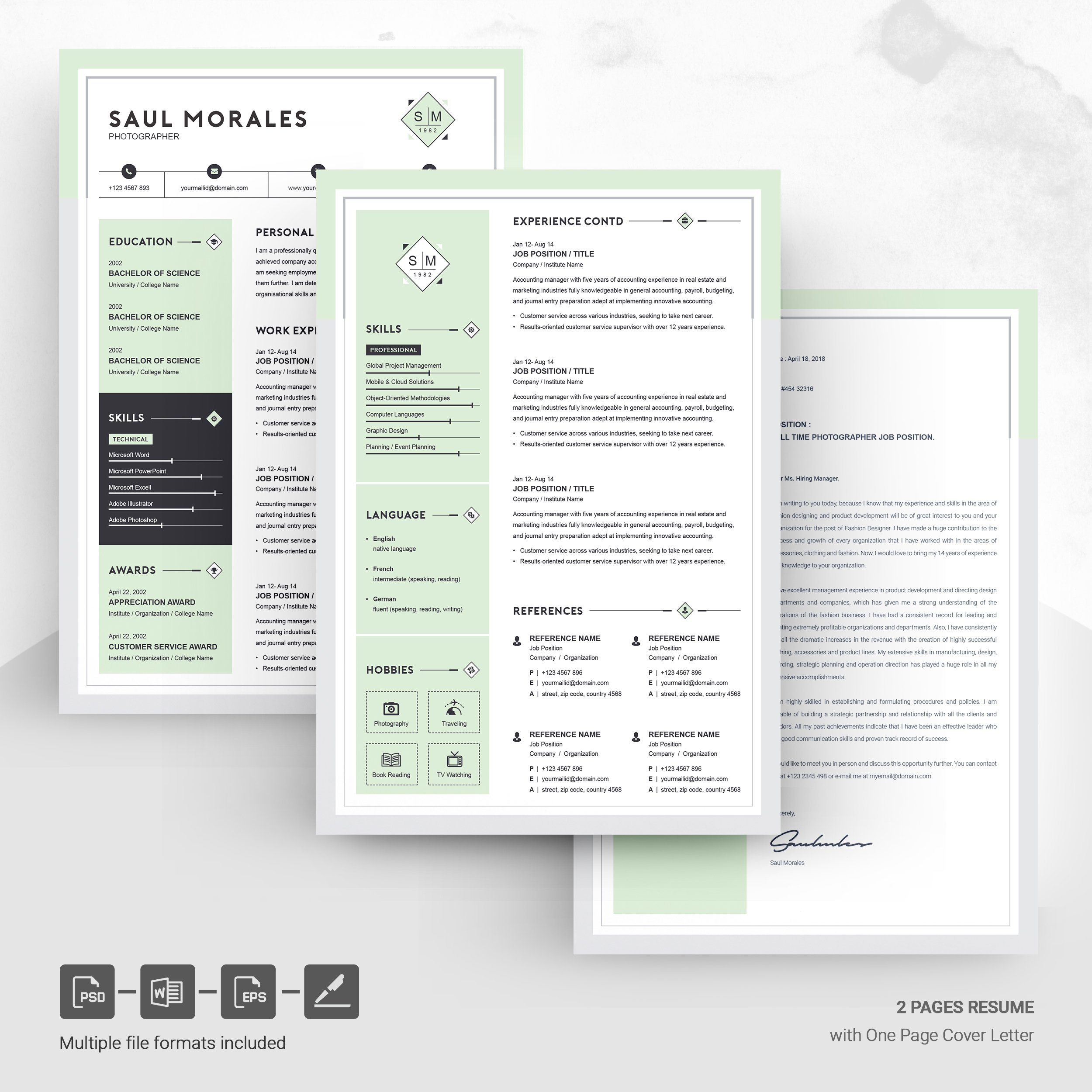 Dribbble - 05-page-free-resume-design-template-.jpg by ...