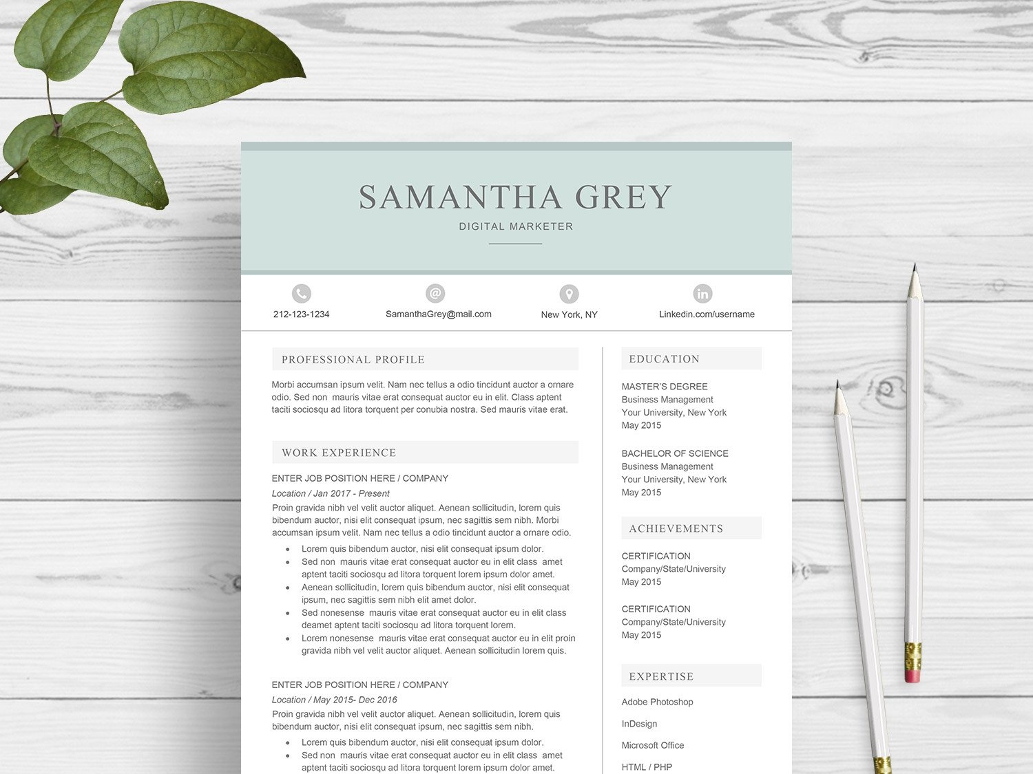 Resume Template For Word By Resume Templates On Dribbble