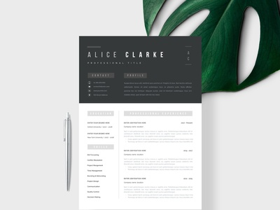Resume Template 1, 2 page | Oslo