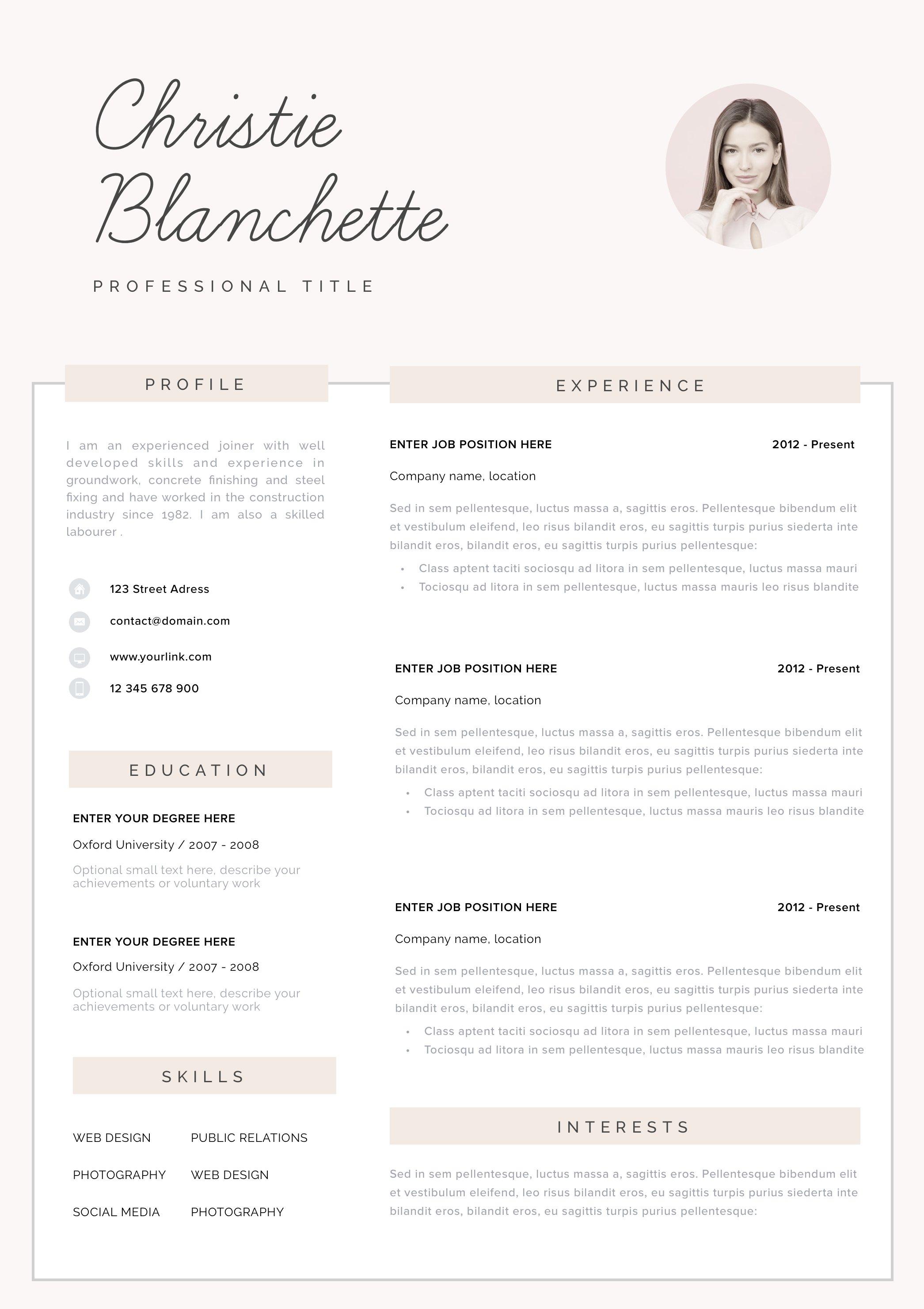 Resume template cv template