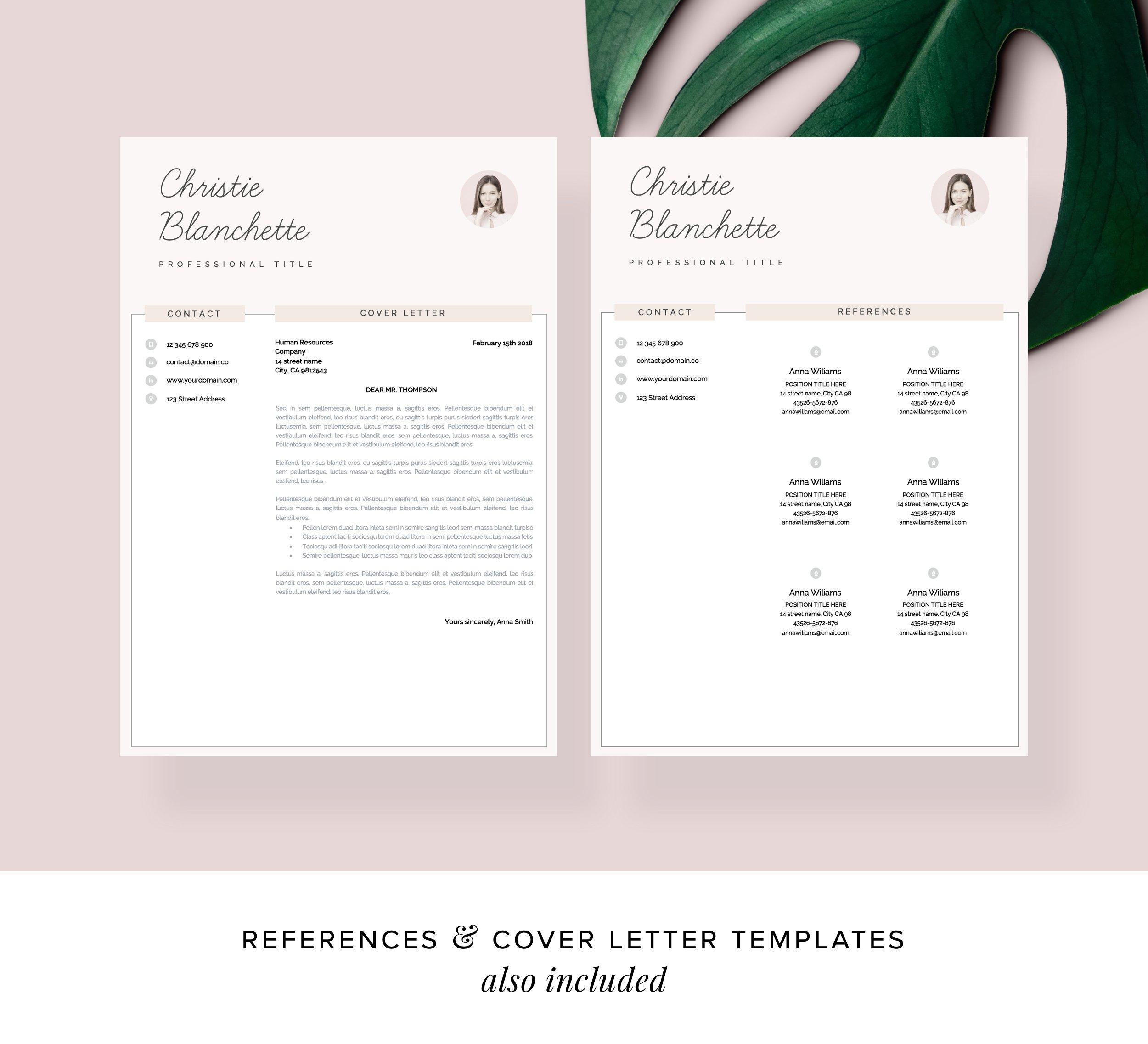 Resume template cv template 4
