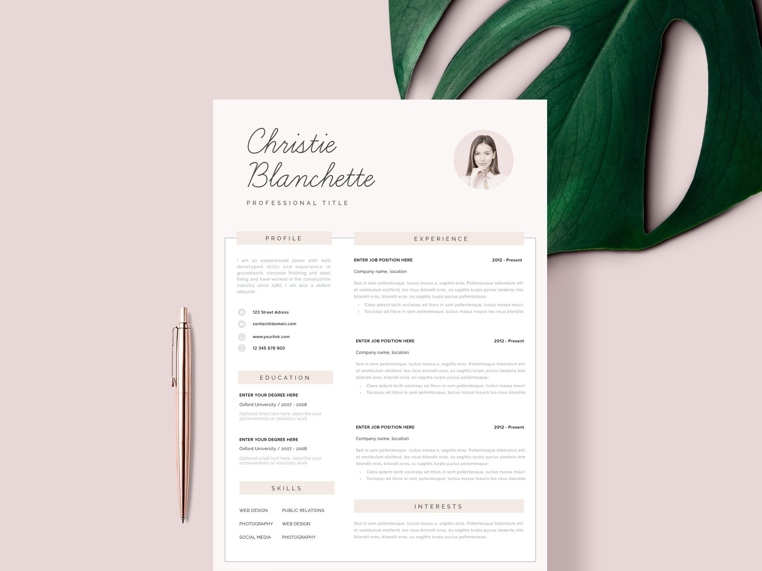 Resume template cv template 1