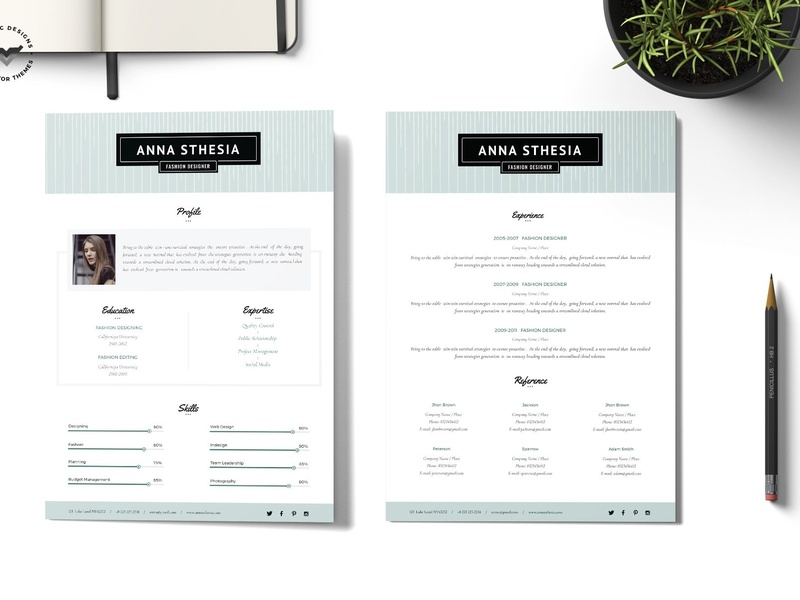 Fashion Designer CV Template by Resume Templates on Dribbble