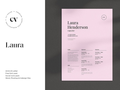Laura | CV / resume template