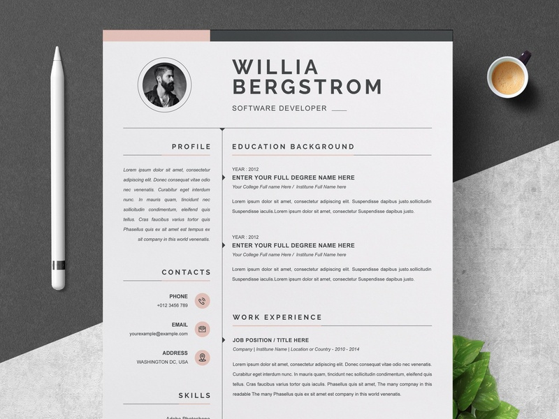 Resume Template / CV by Resume Templates on Dribbble