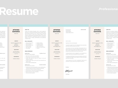 Baby Sitter Resume Template