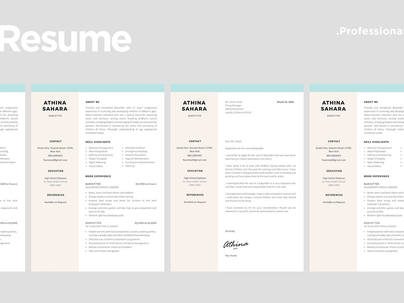 Baby Sitter Resume Template doc modern cv a4 minimal professional resume minimal resume curriculum vitae template clean resume professional creative resume modern resume cv cv template modern resume resume template baby sitter baby sitter