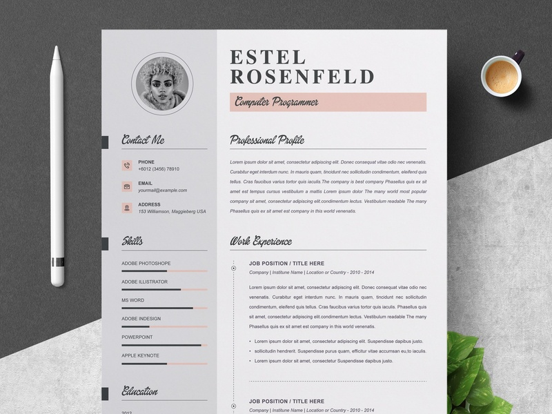 Word Resume Cover Letter Template By Resume Templates On
