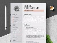 01 clean professional creative and modern resume cv curriculum vitae design template ms word apple p