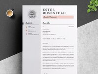 04  resume cover letter page free resume design template   1