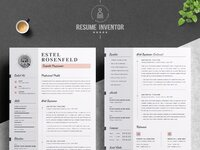 02 2 pages free resume design template   1