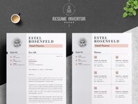 03 2 pages free resume design template   1