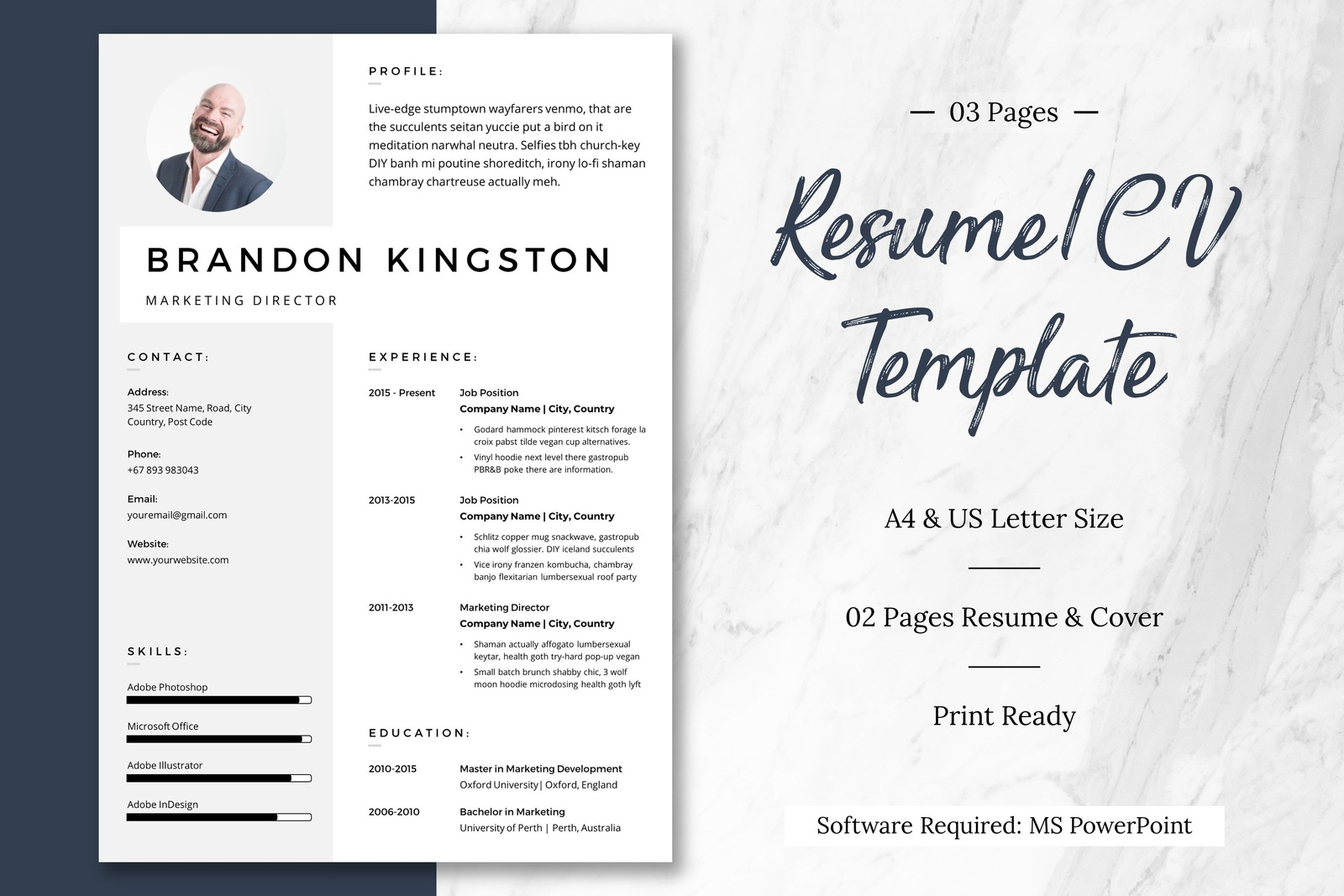 no 1 ppt resume  cv template by resume templates on dribbble