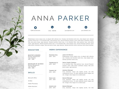 Resume Template - Creative Design