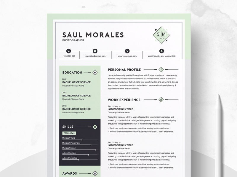 Resume Template 3 Page Cv Template By Resume Templates On