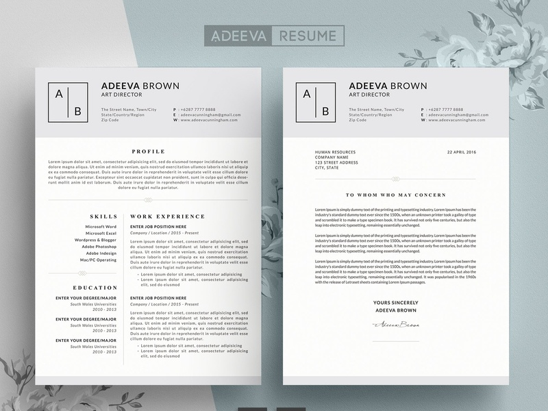Simple Resume Template Brown By Resume Templates On Dribbble