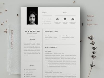Resume / Cv / Ava