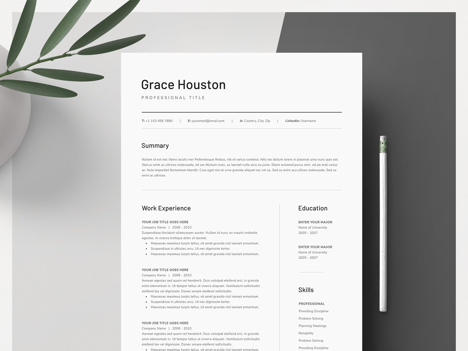 Word Resume & Cover Letter Template by Resume Templates on ...