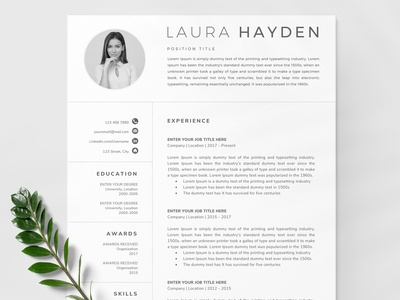Clean Resume Template / CV
