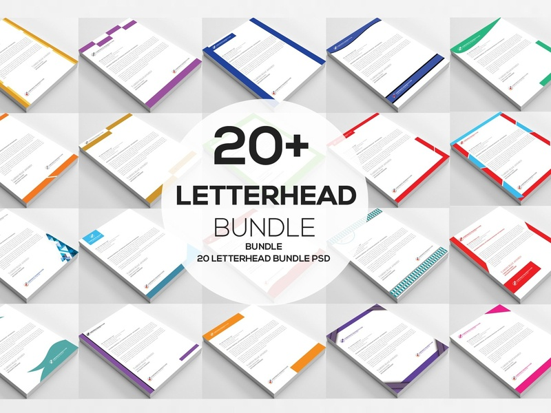20 Ms Word Letterhead Templates By Resume Templates On Dribbble