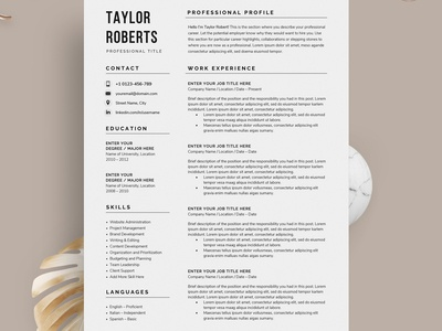 Resume/CV - The Taylor