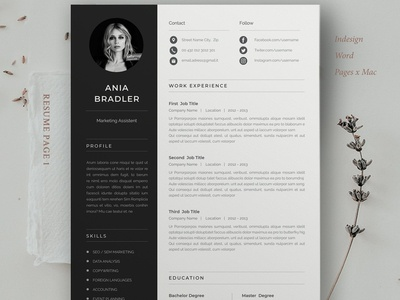 Resume Template | Ania