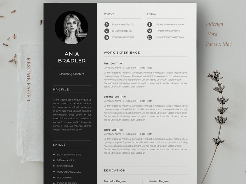 Resume Template | Ania by Resume Templates on Dribbble