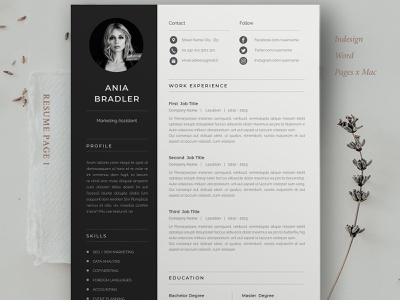 Simple Cv Design from cdn.dribbble.com