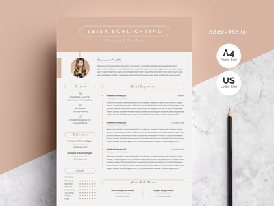 Modern Resume/CV 3-Pages
