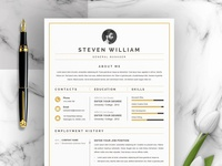 Clean Resume / CV with Cover Letter