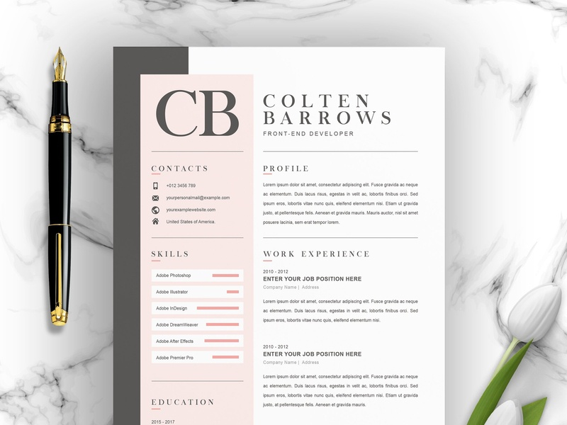 Creative Resume with Cover Letter by Resume Templates on ...