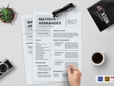 Minimalist CV Resume Template V.4