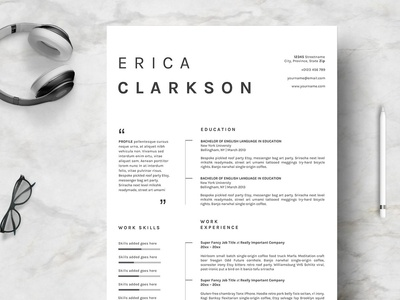 Resume Template Creative & Clean ~ P