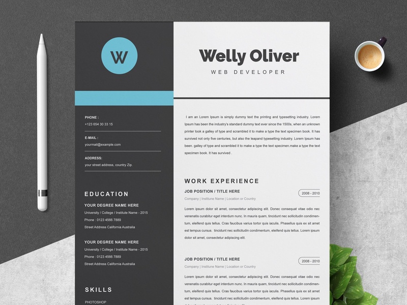 Word Cv Template Resume Template By Resume Templates On Dribbble