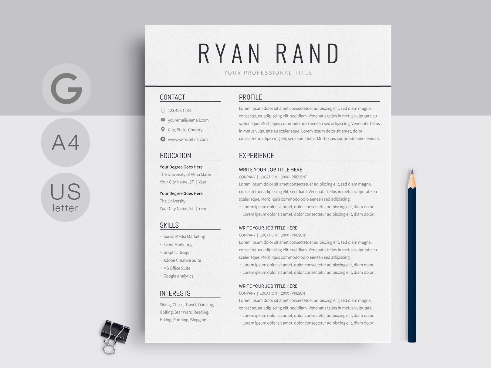 Cv Template Doc from cdn.dribbble.com