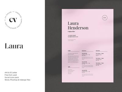 Laura | CV / resume template