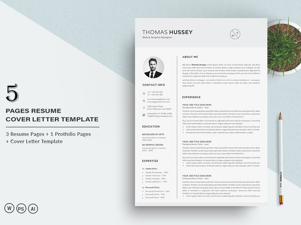 Resume Cv 5 Pages By Resume Templates On Dribbble