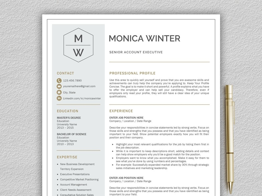 Resume Template Cv Template By Resume Templates On Dribbble