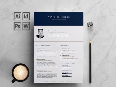 Resume/CV 2 pages - Vince