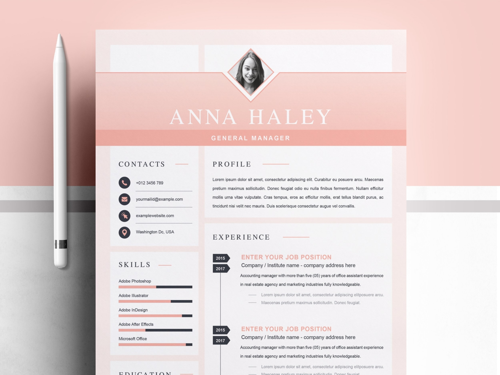 creative  u0026 modern resume  cv template by resume templates on dribbble
