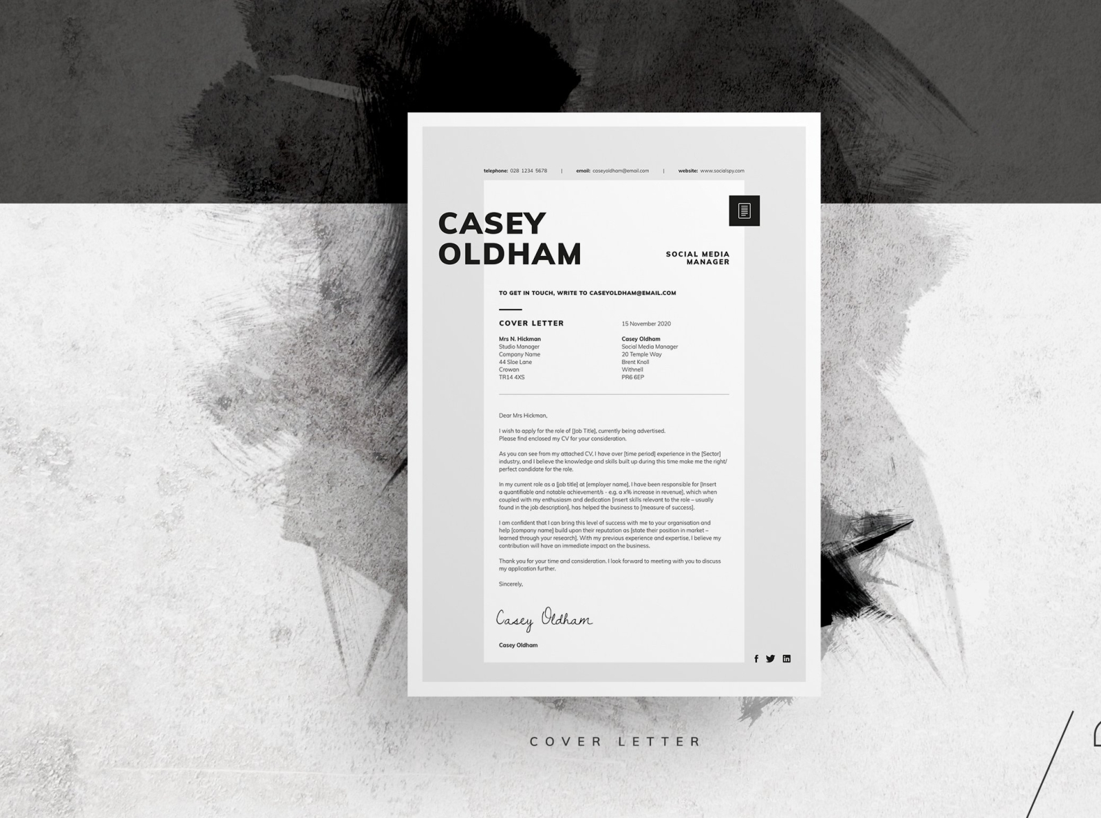 Resume Cv Casey By Resume Templates On Dribbble