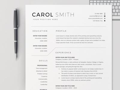 Resume Template Bundle / CV