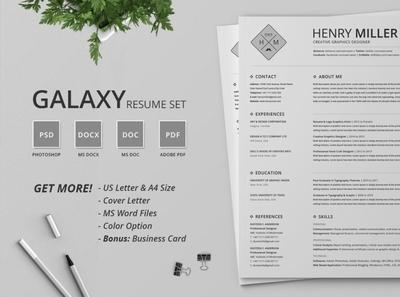Resume/CV Set - Galaxy