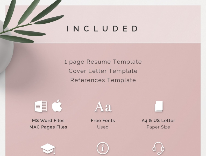 One Page Resume Template Kit By Resume Templates On Dribbble