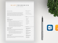 Elegant Resume Template / 4 Pages