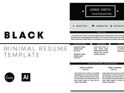 Black Modern Resume Template